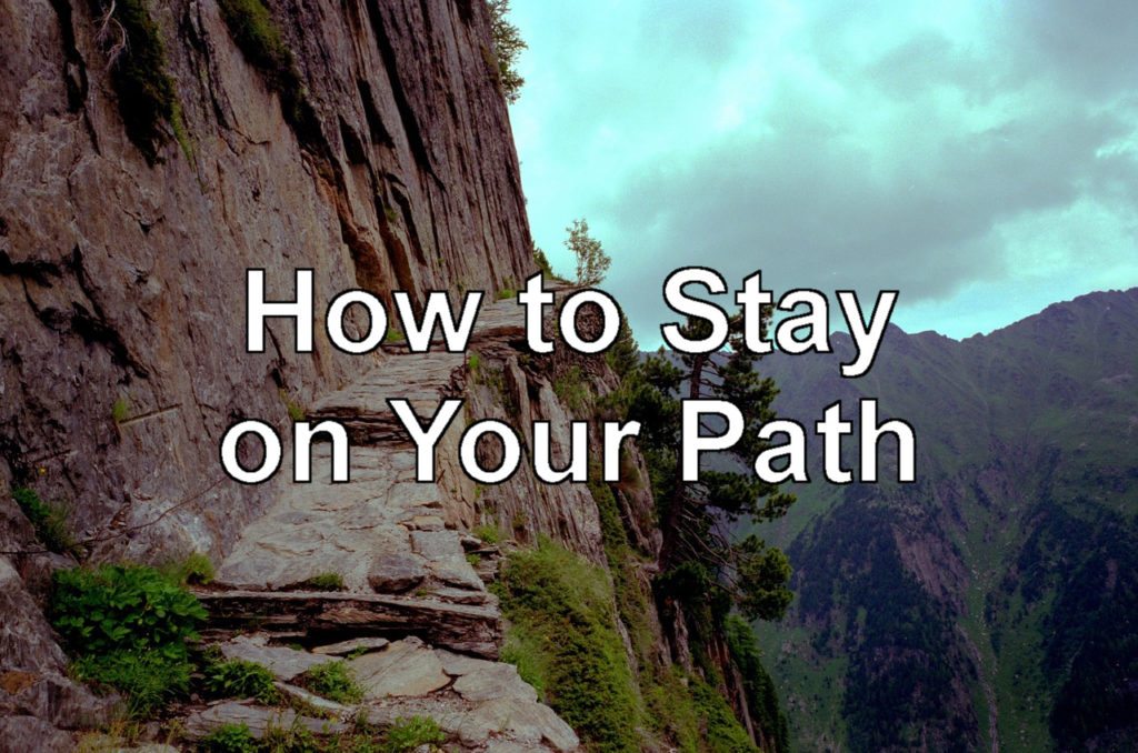 how to get on your path